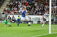 Timo Werner (Deutschland Germany) erzielt das Tor zum 7:0 gegen Torwart Sergei Lepmets (Estland, Estonia) - 11.06.2019: Deutschland vs. Estland, OPEL Arena Mainz, EM-Qualifikation DISCLAIMER: DFB regulations prohibit any use of photographs as image sequences and/or quasi-video.