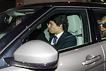 Miguel Boyer´s son Miguel Boyer visits San Isidro funeral home following the death of Miguel Boyer in Madrid, Spain. September 29, 2014. (ALTERPHOTOS/Victor Blanco)