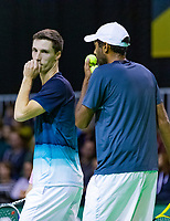 Rotterdam, The Netherlands, 12 Februari 2019, ABNAMRO World Tennis Tournament, Ahoy, first round doubles: Rajeev Ram (USA) - Joe Salisbury (GBR) (L),<br /> Photo: www.tennisimages.com/Henk Koster