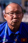 Vietnam Head Coach Park Hangseo is seen prior to the AFC Asian Cup UAE 2019 Group D match between Vietnam (VIE) and I.R. Iran (IRN) at Al Nahyan Stadium on 12 January 2019 in Abu Dhabi, United Arab Emirates. Photo by Marcio Rodrigo Machado / Power Sport Images