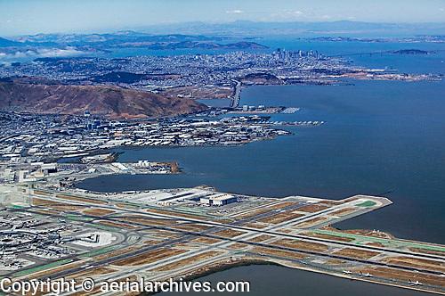 aerial photograph of San Francisco International airport SFO