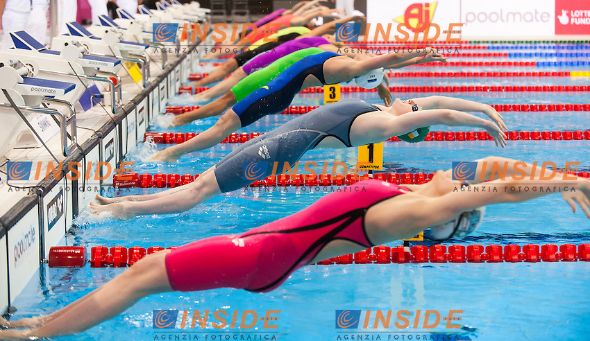 HILL Danielle IRL<br /> London, Queen Elizabeth II Olympic Park Pool <br /> LEN 2016 European Aquatics Elite Championships <br /> Swimming<br /> Women's 100m backstroke preliminary  <br /> Day 10 18-05-2016<br /> Photo Giorgio Perottino/Deepbluemedia/Insidefoto