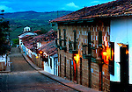 Colombia, Barichara, Spanish Colonial Town Declared A National Monument, Adobe Houses, Steep Streets, Sunrise, South America