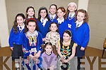 GROUP: Pupils from Sliabh a Mhadra National School, Ballyduff, who took part in the Feis at Causeway Comprehensive School on Sunday. Included are Marie Stack, Valerie Kiely, Hannah Roche, Emma Casey, Rachel Kiely, Rebecca Casey, Emma Barrett, Ciara Casey, Claire Murphy, Edel Slattery and Aoife O'Carroll..