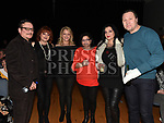 Joe, Joanna, Marisa, Antoinette, Anna and Peter at the Elvis show in the Barbican Centre. Photo:Colin Bell/pressphotos.ie