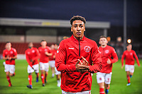 Fleetwood Town's defender James Hill (33) during the The Leasing.com Trophy match between Fleetwood Town and Liverpool U21 at Highbury Stadium, Fleetwood, England on 25 September 2019. Photo by Stephen Buckley / PRiME Media Images.