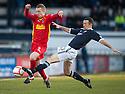 Raith's Eddie Malone  challenges Pars' Andrew Geggan ...