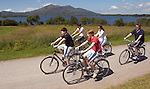 INDEPENDENT weekend review : David and Fiona Murphy and their sons Jack  and Charlie Murphy  and  nephew Nicholas Bakker  hired out bikes to explore Killarney National Park during their staycation  holiday  in Killarney, Co. Kerry.   Picture: Eamonn Keogh (MacMonagle, Killarney)