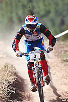 20110-08801-02a Nico Vouilloz  World champs Vail USA 1994 . junior DH winner.      pic copyright Steve Behr / Stockfile