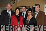 Mike Healy, Joanne Brosnan, Christopher O'Leary, Joan Healy and Colm Brosnan having a ball at the Kilcummin GAA social in the Kilcummin clubhouse on Saturday night .