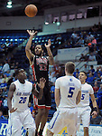 February 14, 2015 - Colorado Springs, Colorado, U.S. -  UNLV guard, Jelan Kendrick #22, takes a jump shot during an NCAA basketball game between the UNLV Runnin' Rebels and the Air Force Academy Falcons at Clune Arena, U.S. Air Force Academy, Colorado Springs, Colorado.  Air Force defeats UNLV 76-75.