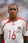 10 June 2007: Cuba's Reysander Fernandez. The Panama and Cuba Men's National Teams tied 2-2 at Giants Stadium in East Rutherford, New Jersey in a first round game in the 2007 CONCACAF Gold Cup.