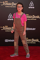 "04 April 2016 - Hollywood, California - Aubrey Anderson-Emmons. ""The Jungle Book"" Los Angeles Premiere held at the El Capitan Theatre. Photo Credit: Sammi/AdMedia"