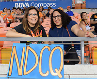 Houston, TX - Wednesday June 28, 2017: Fans during a regular season National Women's Soccer League (NWSL) match between the Houston Dash and the Boston Breakers at BBVA Compass Stadium.