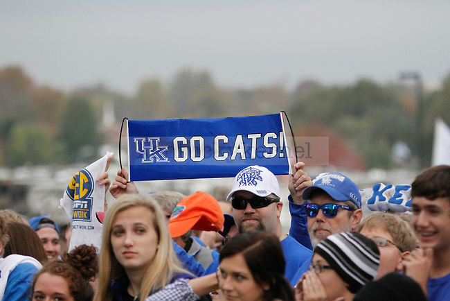 "SEC Network's show ""SEC Nation"" visits the UK campus prior to the game between the Kentucky Wildcats and the Mississippi State Bulldogs at Commonwealth Stadium on Saturday, October 25, 2014 in Lexington, Ky. -.Photo by Hunter Mitchell 