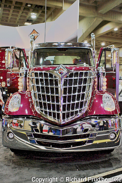 A International Lonestar  truck on display at Expocam truck show held at Place Bonaventure April 2013