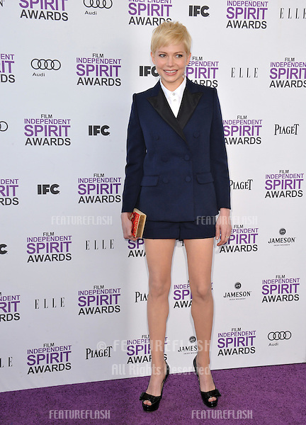 Michelle Williams at the 2012 Film Independent Spirit Awards on the beach in Santa Monica, CA..February 25, 2012  Santa Monica, CA.Picture: Paul Smith / Featureflash