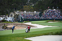 Bernd Wiesberger (AUT) hits his approach shot on 18 during round 4 of the 2019 US Open, Pebble Beach Golf Links, Monterrey, California, USA. 6/16/2019.<br /> Picture: Golffile | Ken Murray<br /> <br /> All photo usage must carry mandatory copyright credit (© Golffile | Ken Murray)