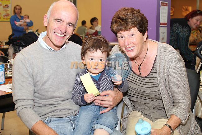 Ian and Pauline Hughes with Rhys Shevlin at the Breakfast Morning with Mumstown.ie in Conjunction with ISPCC, Childline and Cheerios...Picture Jenny Matthews/Newsfile.ie