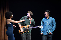 "Jack White '17 was cheered on as he performed a cover of Sam Cooke's ""Nothing Can Change This Love"".<br /> Ashley Rivera '19 and Austin Wilson '19, the charismatic and welcoming hosts of Apollo Night.<br /> Occidental College students perform and compete during Apollo Night, one of Oxy's biggest talent showcases, on Feb. 24, 2017 in Thorne Hall. Sponsored by ASOC and hosted by the Black Student Alliance as part of Black History Month.<br /> (Photo by Marc Campos, Occidental College Photographer)"