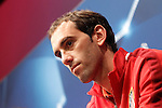 Atletico de Madrid's Diego Godin in press conference before Champions League training session. April 4,2016.(ALTERPHOTOS/Acero)