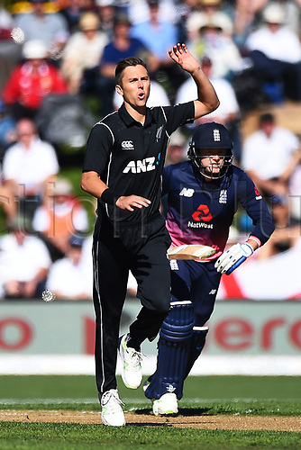 7th March 2018, University Oval, Dunedin, New Zealand; 4th ODI International Cricket, New Zealand versus England;  Blackcaps Trent Boult