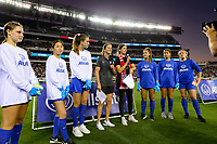 PHILADELPHIA, PA - AUGUST 29: Allstate, Brandi Chastain during a game between onsorship v at Lincoln Financial Field on August 29, 2019 in Philadelphia, Pennsylvania.