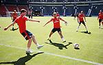 Scotland training at Hampden: Andy Robertson, James Morrison and Gordon Greer