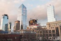 10 Hudson Yards, center left, and other Hudson Yards development in New York on Sunday, January 29, 2017. (© Richard B. Levine_
