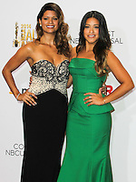 PASADENA, CA, USA - OCTOBER 10: Andrea Navedo, Gina Rodriguez pose in the press room at the 2014 NCLR ALMA Awards held at the Pasadena Civic Auditorium on October 10, 2014 in Pasadena, California, United States. (Photo by Celebrity Monitor)
