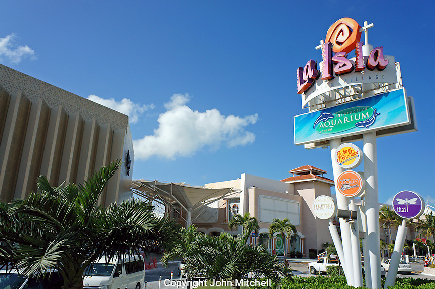 La Isla Shopping Village mall in the Zona Hotelera, Cancun, Quintana Roo, Mexico.