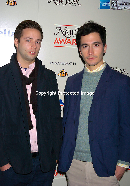 Designers Jack McCollought and Lazaro Hernandez of Porenza Schouler..at the 2003 New York Magazine Awards on December 15, 2003 at the Four Seasons Restaurant . Photo by Robin Platzer, Twin Images
