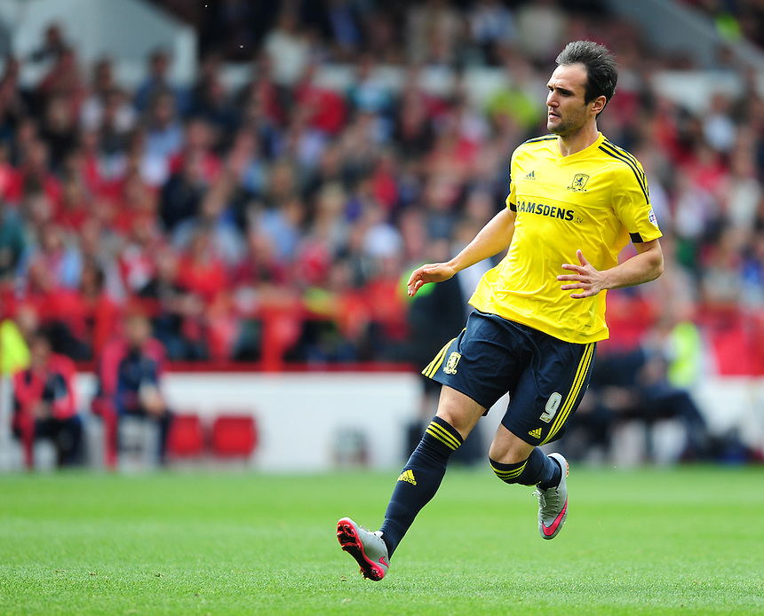 Middlesbrough's Kike<br /> <br /> Photographer Chris Vaughan/CameraSport<br /> <br /> Football - The Football League Sky Bet Championship - Nottingham Forest v Middlesbrough - Saturday 19th September 2015 - City Ground - Nottingham<br /> <br /> &copy; CameraSport - 43 Linden Ave. Countesthorpe. Leicester. England. LE8 5PG - Tel: +44 (0) 116 277 4147 - admin@camerasport.com - www.camerasport.com
