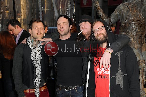 """The Used<br /> at the """"Clash Of The Titans"""" Los Angeles Premiere, Chinese Theater, Hollywood, CA. 03-31-10<br /> David Edwards/DailyCeleb.com 818-249-4998"""