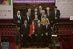 Health Minister Alfonso Alonso, Queen Letizia of Spain Senate President Pio Garcia-Escudero and the awarded pose during the Rare Diseases World Day Event organized by FEDER in Madrid, Spain. March 05, 2015. (ALTERPHOTOS/Victor Blanco)