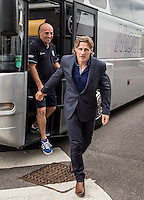 Gareth Ainsworth Manager of Wycombe Wanderers arrives prior to the Sky Bet League 2 match between Crawley Town and Wycombe Wanderers at Checkatrade.com Stadium, Crawley, England on 29 August 2015. Photo by Liam McAvoy.