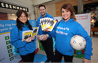 Pictured L-R:  Louisa Lorey, Ian Robson and Sara Manchipp Saturday 18 Saturday<br />Re: Welsh Government Dementia Risk Prevention Roadshow at the Quadrant Shopping Centre in Swansea, Wales, UK.