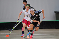Thailand&rsquo;s Tikhamporn Sakunpithak in action during the World Floorball Championships 2017 Qualification for Asia Oceania Region - Japan v Thailand at ASB Sports Centre , Wellington, New Zealand on Saturday 4 February 2017.<br /> Photo by Masanori Udagawa<br /> www.photowellington.photoshelter.com.