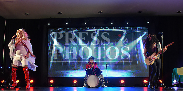 LMFM performing in the Naomh Fionnbarra / St Annes Lip Sync in City North hotel. Photo:Colin Bell/pressphotos.ie
