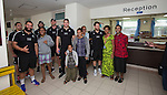 Cody Rei (left back), Joe Royal, Heiden Bedwell-Curtis, Hayden Triggs, Ben May, Tawera Kerr-Barlow. Suva Children's Hospital. Suva, Fiji. July 10 2015. Photo: Marc Weakley