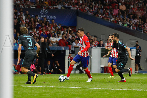 27th September 2017, Wanda Metropolitano, Madrid, Spain; UEFA Champions League, Atletico Madrid versus Chelsea; Fernando Torres (9) Atletico de Madrid