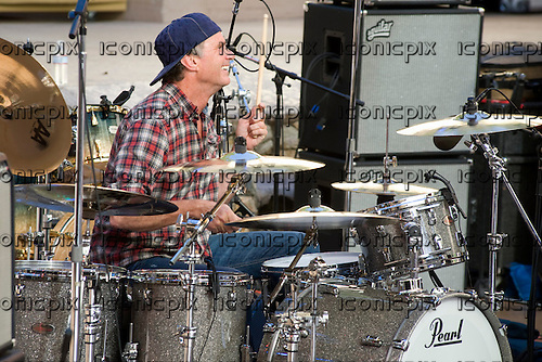 Chad Smith's Bombastic Meatbats - drummer Chad Smith - performing   at the Baked Potato  40th Anniversary show at the John Anson Ford Ampitheatre in Los Angeles CA USA - Apr 22, 2010.  Photo credit: Alex Solca/IconicPix