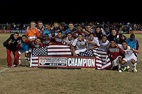 The U.S. Under-17 Men's National Team won the 2011 Nike International Friendlies with a 3-1 victory against Brazil.  Premier Sports Campus in Lakewood, Fla.