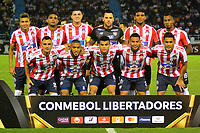BARRANQUILLA - COLOMBIA ,25-04-2019: Formacion  del Atlético Junior  de Colombia  ante el  San Lorenzo  de Argentina durante partido por la fase de grupos (Vuelta) fecha 5 de la Copa CONMEBOL Libertadores 2019 jugado en el estadio Metropolitano Roberto Meléndez de la ciudad de Barranquilla . / Team of  Atlético Junior of Colombia agaisnt of San Lorenzo of Argentina during the group stage (comeback) date 5 of the Copa CONMEBOL Libertadores 2019 played at the Metropolitan Stadium Roberto Meléndez from the city of Barranquilla . Photo: VizzorImage / Alfonso Cervantes / Contribuidor.