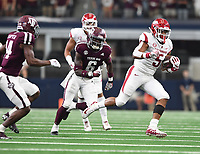 NWA Democrat-Gazette/J.T. WAMPLER Arkansas' Rakeem Boyd runs for yardage against Texas A&M Saturday Sept. 29, 2018 at AT&T Stadium in Arlington. The Aggies beat the Razorbacks 24-17.