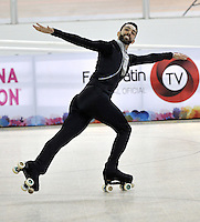 CALI - COLOMBIA - 19 - 09 - 2015: Daniel Morandin, deportista de Italia, durante la prueba de Solo Danza Obligatorias Mayores Varones, en el LX Campeonato Mundial de Patinaje Artistico, en el Velodromo Alcides Nieto Patiño de la ciudad de Cali. / Daniel Morandin, sportman of Italy, during the Compulsory Solo Dance Senior Men test, in the LX World Championships  Figure Skating, at the Alcides Nieto Patiño Velodrome in Cali City. Photo: VizzorImage / Luis Ramirez / Staff.