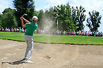 Rhys Davies (WAL) chips out of a bunker at the 2nd green during Day 3 of the BMW Italian Open at Royal Park I Roveri, Turin, Italy, 11th June 2011 (Photo Eoin Clarke/Golffile 2011)