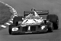 WATKINS GLEN, NY: Ronnie Peterson drives the Tyrrell P34 6/Ford Cosworth DFV during practice for the United States Grand Prix East on October 2, 1977, at the Watkins Glen Grand Prix Race Course near Watkins Glen, New York.