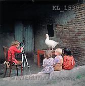 Interlitho, CHILDREN, photos, 4 kids, camera, goose(KL1539,#K#) Kinder, niños