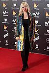 Lluvia Rojo attends red carpet of Feroz Awards 2018 at Magarinos Complex in Madrid, Spain. January 22, 2018. (ALTERPHOTOS/Borja B.Hojas)